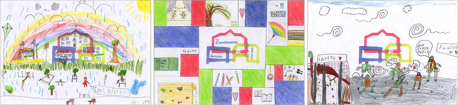 Zeichnungen der Schüler Kerschensteiner Schule Hausen