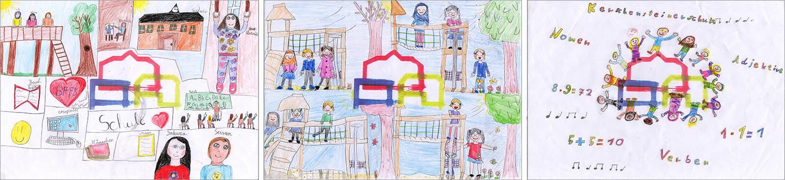 Gemälde Schüler Kerschensteinerschule Hausen